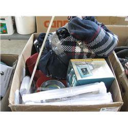 BOX OF MISC HOUSEWARE