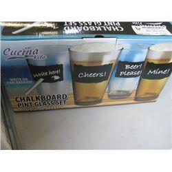 2 BOXES CHALKBOARD GLASS