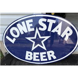 """1993 LONE STAR BEER TIN SIGN, APPROX 28"""""""