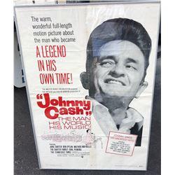 FRAMED 1969 JOHNNY CASH POSTER