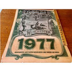 1977 WINCHESTER 'BUFFALO BILL' CALENDAR