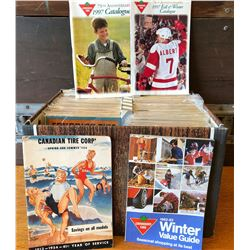 SET OF CANADIAN TIRE CATALOGS, 1950'S TO 1980'S