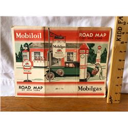 1931 MOBIL GAS ROAD MAP OF NEW YORK