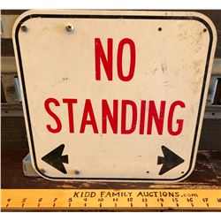 NO STANDING ROAD SIGN ON HANGING FLANGE