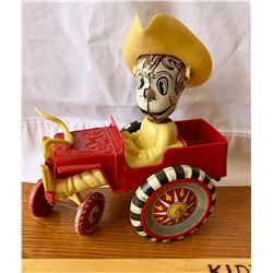 MARX PLASTIC / TIN TOY COWBOY WITH TRUCK