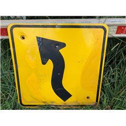 ROAD SIGN - S CURVE ARROW
