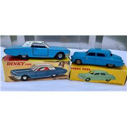 GR OF 2, DINKY TOY VEHICLES. THUNDERBIRD & STUDEBAKER - WITH BOXES