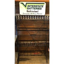 INTERSTATE BATTERIES DEALER DISPLAY STAND WITH SST SIGN