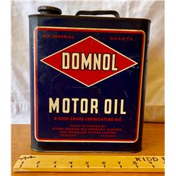 DOMNOL MOTOR OIL CAN - 6 QT SIZE