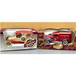 GR OF 2, LIBERTY CLASSIC TOY VEHICLES - 1916 STUDEBAKER & 1936 DODGE CANADIAN TIRE DELIVERY VAN