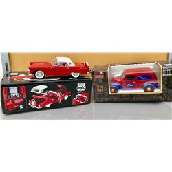 GR OF 2 , TOY VEHICLES, 1940 FORD DELIVERY VAN & THUNDERBIRD