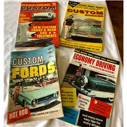 GR OF 4, 1960'S CAR MAGAZINES