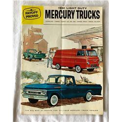 1961 MERCURY TRUCKS SALES BROCHURE