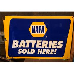NAPA BATTERIES SOLD HERE SST SIGN