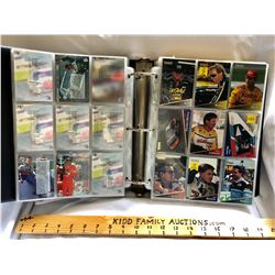 GR OF 4, NASCAR COLLECTOR CARD ALBUMS