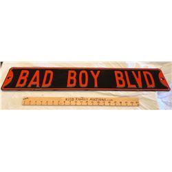 DECO 'BAD BOY BLVD' ROAD SIGN