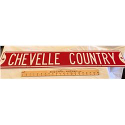 DECO 'CHEVELLE COUNTRY' ROAD SIGN