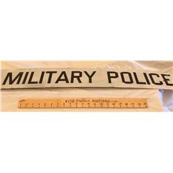 MILITARY POLICE ROAD SIGN