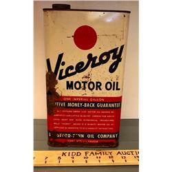 VICEROY MOTOR OIL TIN - 1 IMP GAL - CANADA