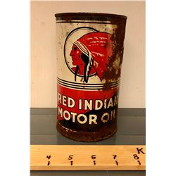 RED INDIAN MOTOR OIL TIN - 1 QT SIZE