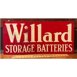 WILLARD BATTERIES DST SIGN