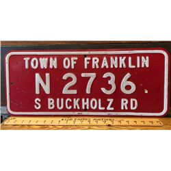 TOWN OF FRANKLIN - STEEL SIGN