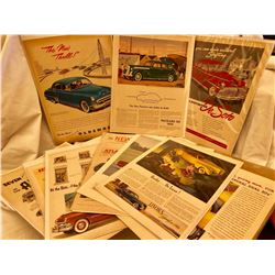 QTY OF VINTAGE AUTOMOBILE ADVERTISING PIECES