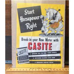 CASITE DISPLAY POSTER - START HORSEPOWER RIGHT