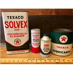 GR OF 4, TEXACO CANS