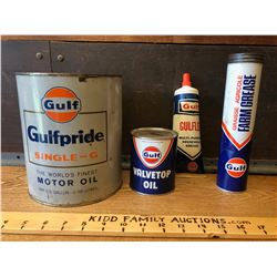 GR OF 4, GULF OIL ITEMS