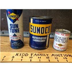 GR OF 3, SUNOCO CANS