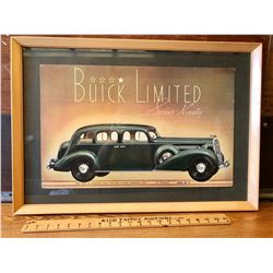 1930's FRAMED BUICK SHOWROOM DISPLAY SIGN