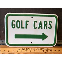 GOLF CARS SS SIGN