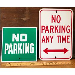 GR OF 2 NO PARKING SIGNS