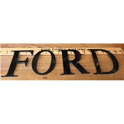 FORD METAL CUT OUT LETTERS