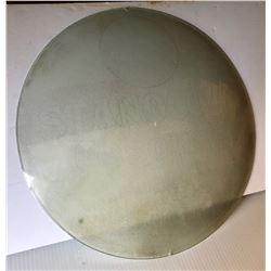 """GR OF 2, 1930-40's GAS PUMP GLOBE GLASS LENSES - 14.5"""""""