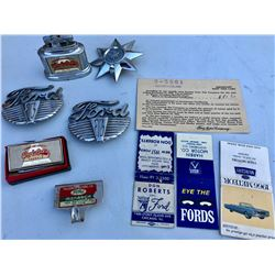 GR OF 10, FORD MEMORABILIA ITEMS