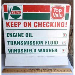 CASTROL DST STAND-UP DISPLAY SIGN