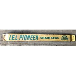 I E L PIONEER CHAIN SAWS TIN DOOR PUSH