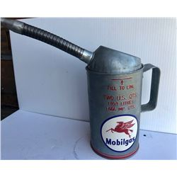 MOBIL GAS FUEL CAN WITH SPOUT