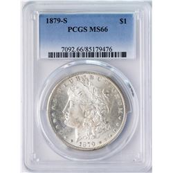 1879-S $1 Morgan Silver Dollar Coin PCGS MS66 AMAZING TONING