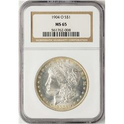 1904-O $1 Morgan Silver Dollar Coin NGC MS65