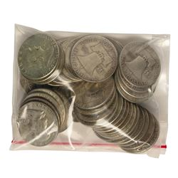 Bag of (50) Silver Franklin Half Dollar Coins - $25 Face Value