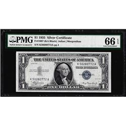 1935 $1 Silver Certificate Note Fr.1607 PMG Gem Uncirculated 66EPQ