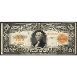 1922 $20 Gold Certificate Note