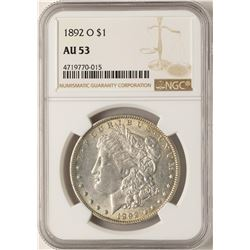 1892-O $1 Morgan Silver Dollar Coin NGC AU53