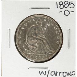 1885-O w/ Arrows Seated Liberty Half Dollar Coin