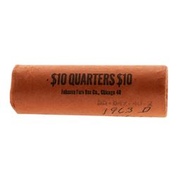 Roll of (40) Brilliant Uncirculated 1963-D Washington Quarter Coins