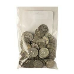 Bag of (100) Pre-1964 Silver Quarter Coins - $25 Face Value