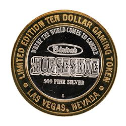 .999 Silver Binions Horseshoe $10 Casino Limited Edition Gaming Token